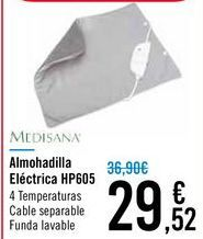 Oferta de Almohadilla eléctrica HP605 Medisana  por 29,52€