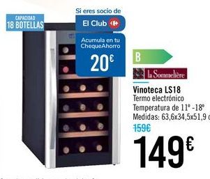 Oferta de Vinoteca LS18 por 149€