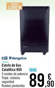 Oferta de Estufa de Gas Catalitica H55 Orbegozo  por 89,9€