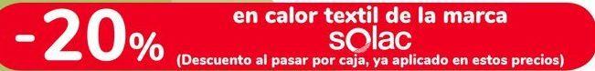 Oferta de En calor textil de la marca SOLAC por