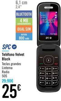 Oferta de Teléfono Velvet Black SPC por 25€
