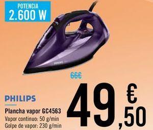 Oferta de Plancha vapor GC4563 PHILIPS por 49,5€