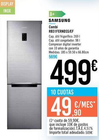 Oferta de Combi RB31FERNDSS/EF SAMSUNG por 499€
