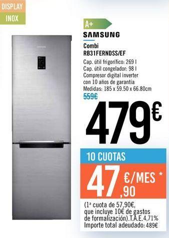 Oferta de Combi RB31FERNDSS/EF SAMSUNG por 479€
