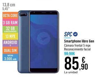 Oferta de Smartphone libre Gan SPC por 85,9€