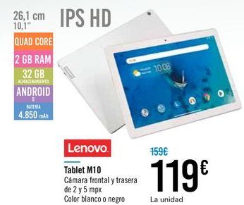 Oferta de Tablet M10 LENOVO por 119€