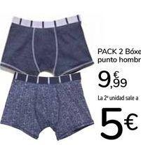 Oferta de Pack 2 Bóxer punto hombre por 9,99€