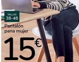 Oferta de Pantalón pana mujer por 15€