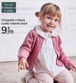 Oferta de Chaqueta o blusa cuello volante bebé  por 9,99€