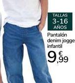 Oferta de Pantalón denim jogger infantil por 9,99€