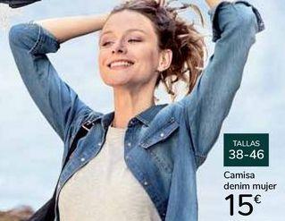 Oferta de Camisa denim mujer por 15€