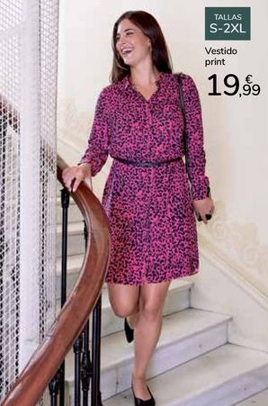 Oferta de Vestido print por 19,99€