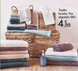 Oferta de Toalla lavabo Tex algodón BIO por 4,99€
