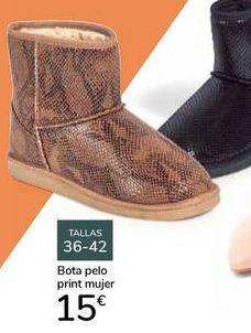 Oferta de Bota pelo print mujer  por 15€