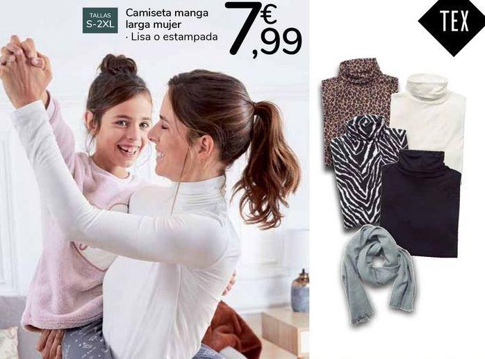 Oferta de Camiseta manga larga mujer  por 7,99€