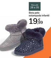 Oferta de Bota pelo estampada infantil  por 19,99€