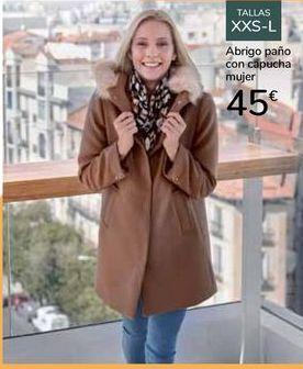 Oferta de Abrigo paño con capucha mujer  por 45€