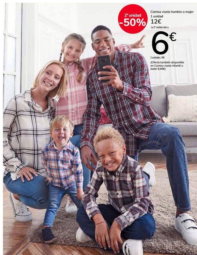 Oferta de Camisa viyela hombre o mujer por 12€