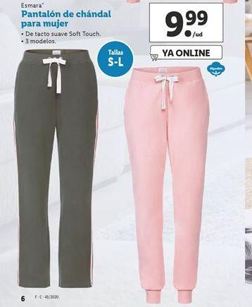 Oferta de Pantalón de chandal para mujer esmara por 9,99€