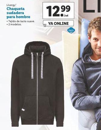 Oferta de Chaqueta sudadera para hombre Livergy por 12,99€