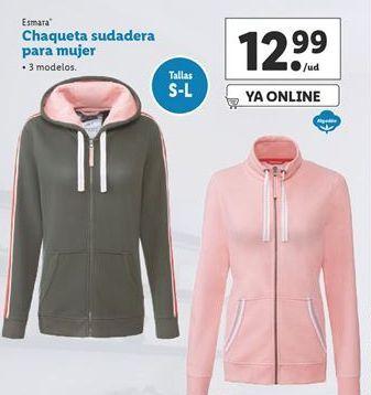 Oferta de Chaqueta sudadera para mujer esmara por 12,99€