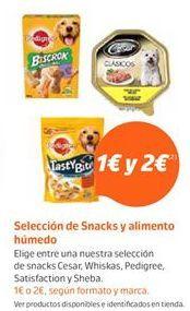 Oferta de Snacks para mascotas Pedigree por