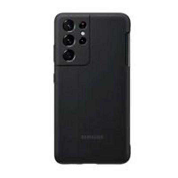 Oferta de Funda de silicona Samsung S Pen Cover Negro para Galaxy S21 Ultra por 42,29€