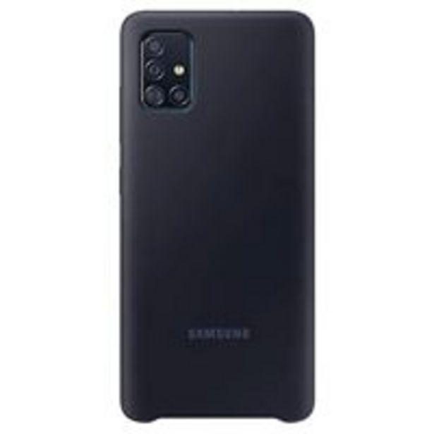 Oferta de Funda de silicona Samsung Negro para Galaxy A51 por 14,4€