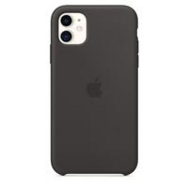 Oferta de Funda de silicona Apple Negro para iPhone 11 por 40,29€