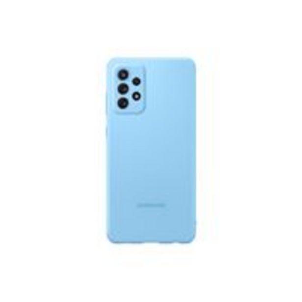 Oferta de Funda de silicona Samsung Azul para Galaxy A72 por 20,62€