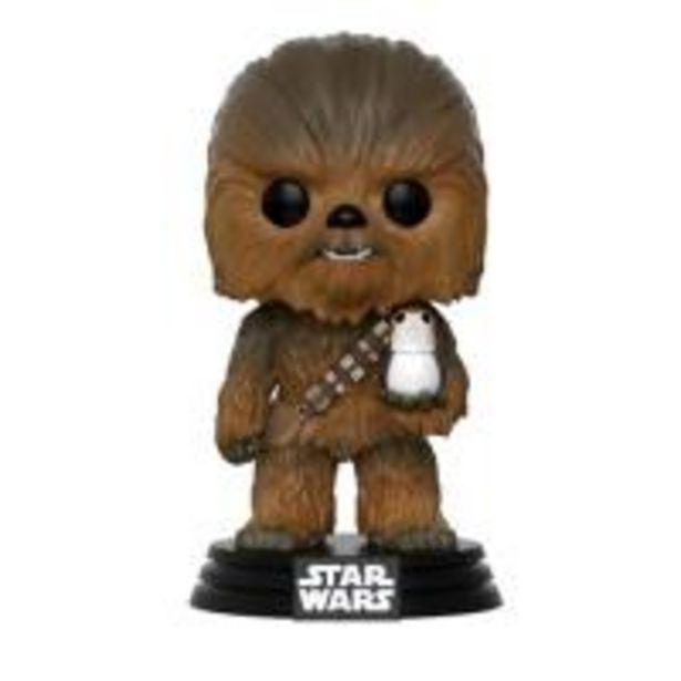 Oferta de Figura Funko Star Wars Episodio VIII - Chewbacca con Porg por 10€