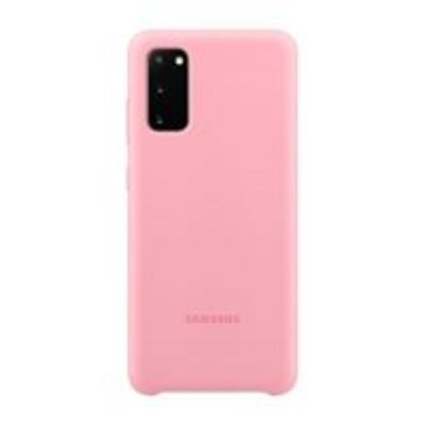 Oferta de Funda de silicona Samsung Rosa para Galaxy S20 por 15,99€