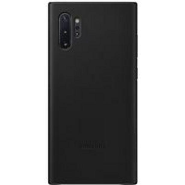 Oferta de Funda de piel Samsung Negro para Galaxy Note 10+ por 33,19€