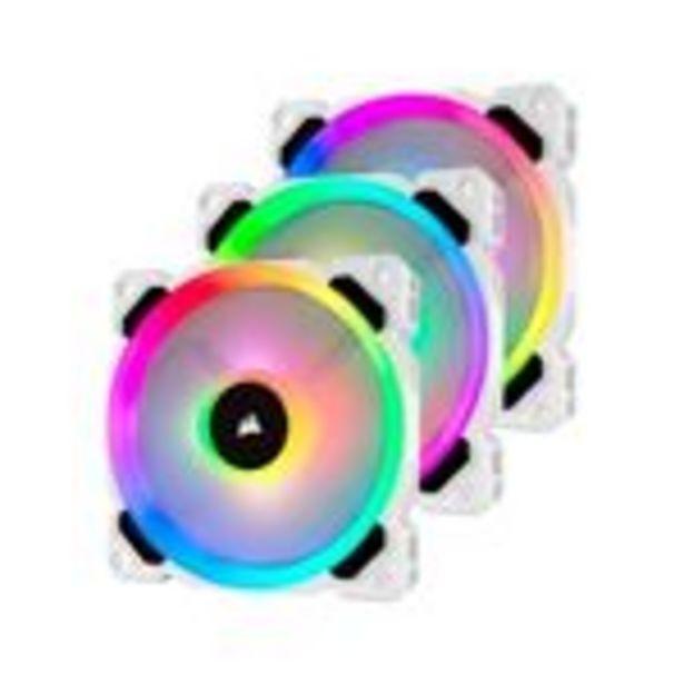 Oferta de Ventilador CORSAIR LL120 Pro LED RGB 120mm Blanco (Paquete de 3) - (CO-9050092-WW) por 98,94€
