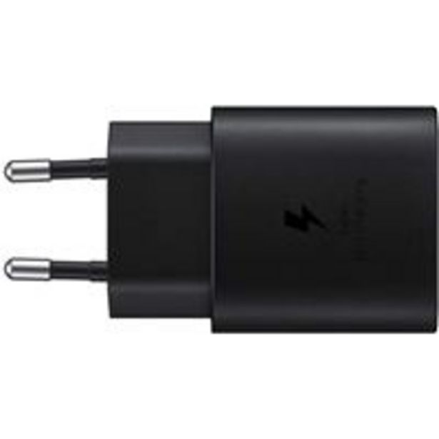 Oferta de Cargador de pared Samsung para carga rápida 25 W Negro por 19,79€