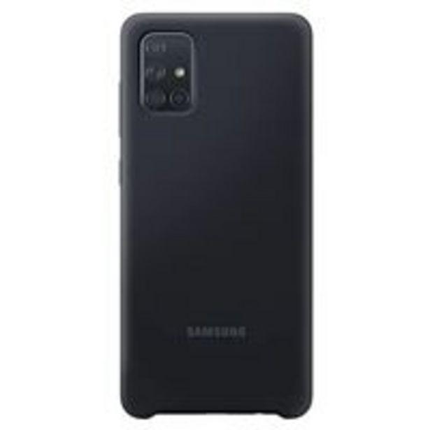 Oferta de Funda de silicona Samsung Negro para Galaxy A71 por 14,09€