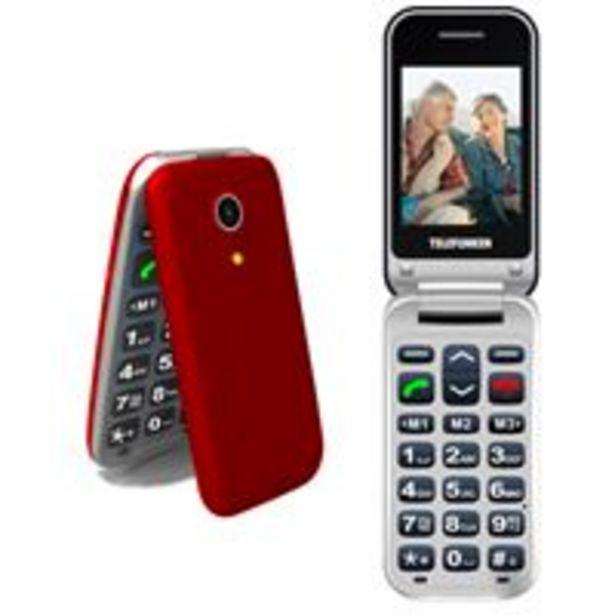 Oferta de Teléfono móvil Telefunken TM 210 Izy Rojo Libre por 39,9€