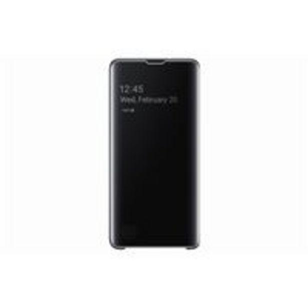 Oferta de Funda Samsung Clear View para Galaxy S10 Negro por 41,89€