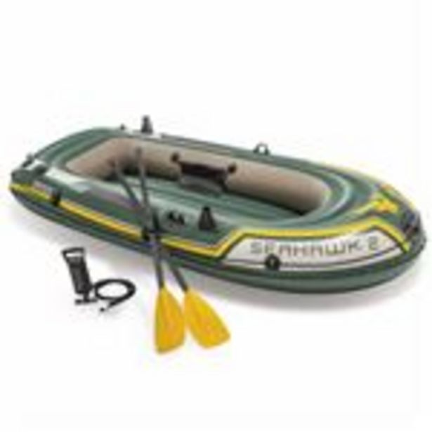 Oferta de Barca hinchable para excursiones Seahawk Intex 2 68347NP con remos y bomba por 83,99€