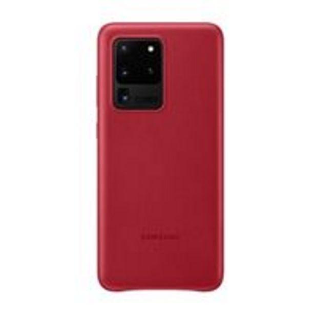 Oferta de Funda de piel Samsung Rojo para Galaxy S20 Ultra por 27,99€
