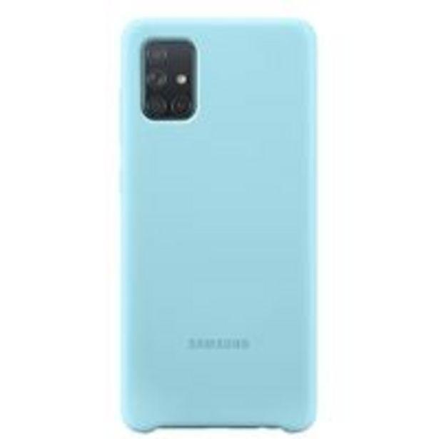 Oferta de Funda de silicona Samsung Azul para Galaxy A71 por 15,99€