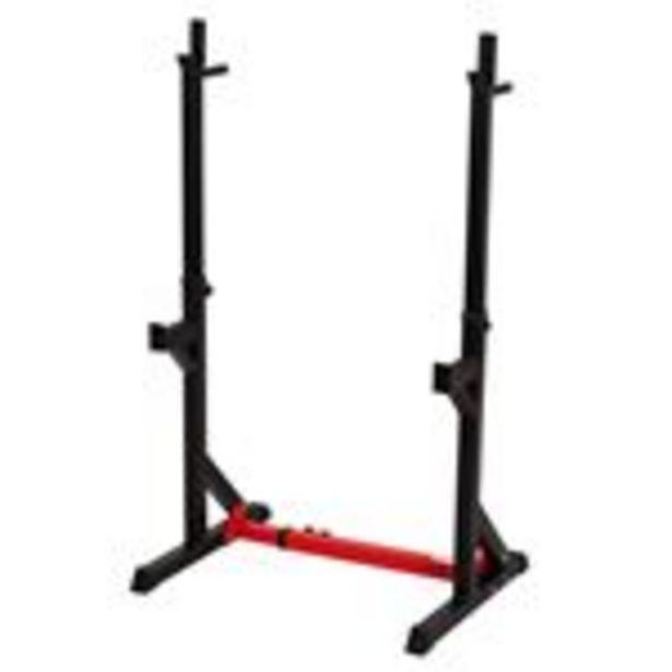 Oferta de Soporte para barra pesas Homcom A91·071 122x66x163cm negro y rojo por 105,99€