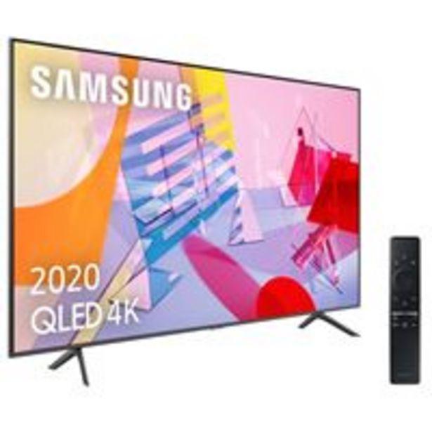 Oferta de TV QLED 55'' Samsung QE55Q60T4K UHD HDR Smart TV por 629,9€