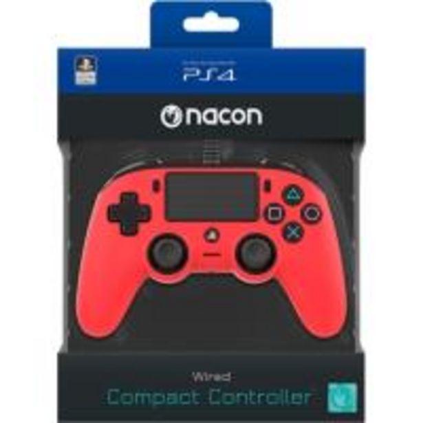 Oferta de Mando Bigben Nacon Compact PS4/PC Rojo por 38,99€