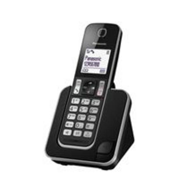 Oferta de Teléfono inalámbrico Panasonic KX-TGD310 negro por 32,99€