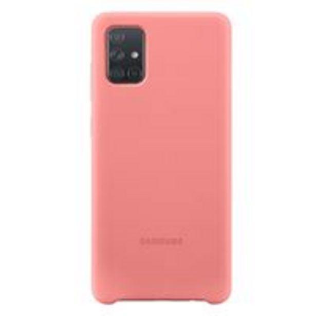 Oferta de Funda de silicona Samsung Rosa para Galaxy A71 por 15,99€