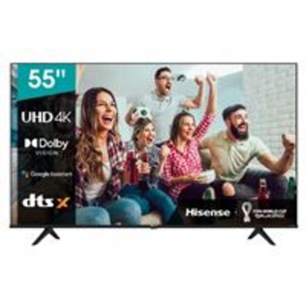 Oferta de TV LED 55'' Hisense 55A6GQ 4K UHD HDR Smart TV por 529,9€