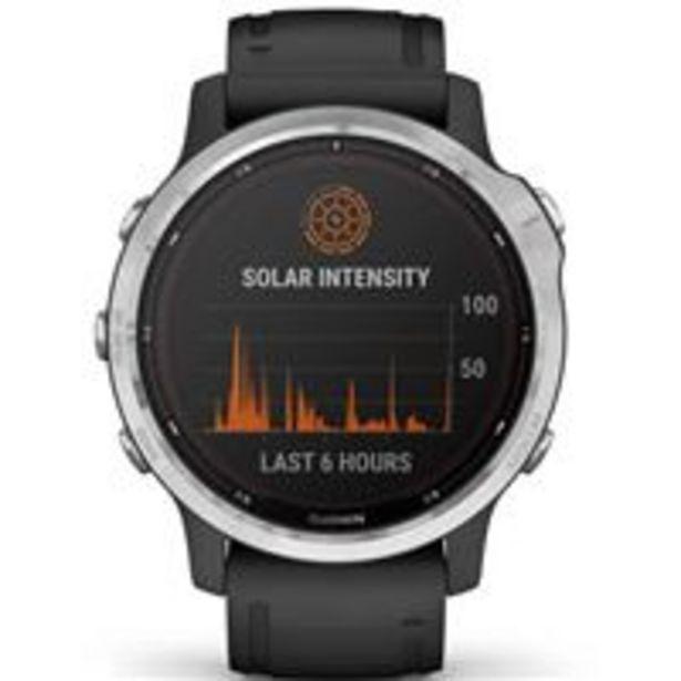 Oferta de Pulsómetro Garmin Fénix 6S Solar Plata/Negro por 564,97€