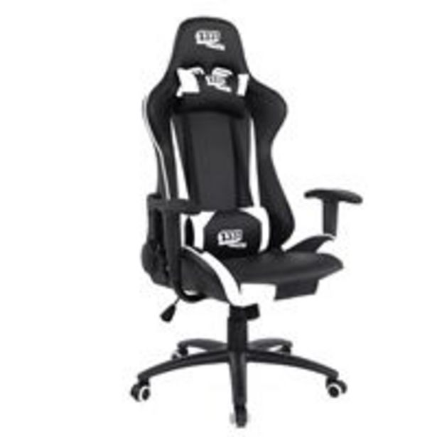 Oferta de Silla gaming 1337 Industries GC757SP Negro/Blanco por 135,99€