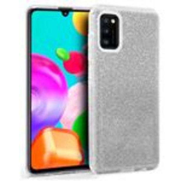 Oferta de Carcasa Samsung A415 Galaxy A41 Glitter Plata por 10,99€